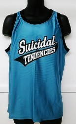 SUICIDAL TENDENCIES  Teal BaseBall Jersey