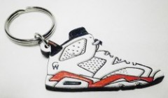 "GOOD WOOD ""Infrared 6's""KeyChain WHT"