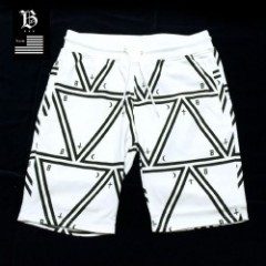 Blowonesmind(ビー・オー・エム)TRIANGLE SWEAT SHORTS WHT