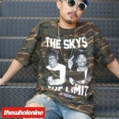 thewholenine(ザホールナイン)TheSky's TheLimit Tee camo