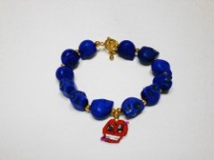 "DAVINCI CROOKS""APPLE MINI SKULL-blu""Bracelet"