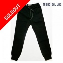 NEO BLUE Black Twill Jogger Pants