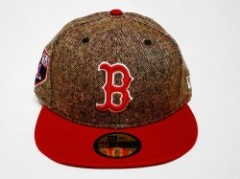NEW ERA TWEED CREST FITTED CAP BOSTON