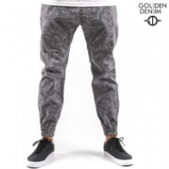 GOLDEN DENIM The Marathon PANTS GrayPaisley