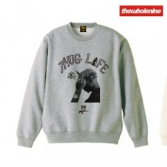 thewholenine(ザホールナイン)THUG LIFE Sweat Crew